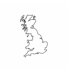 Map of Great Britain icon outline style vector image