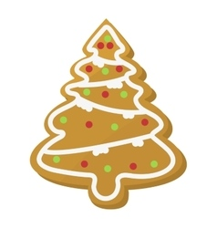 Christmas cookie cake isolated icon vector