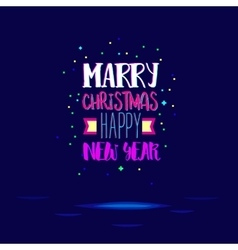Marry christmas with super bright colors vector