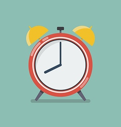 Alarm clock in flat style vector