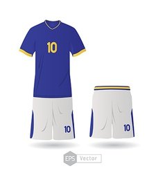 brazil team uniform vector image