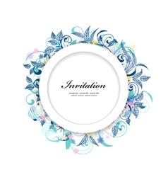 card flower2 vector image