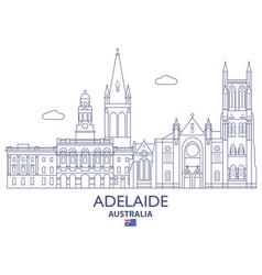 Adelaide city skyline vector