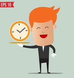Waiter serving time - - eps10 vector