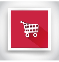 Icon of shopping cart for mobile applications vector
