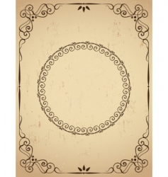 Vintage frame on grunge background vector