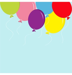 Colorful balloon set in the sky greeting card back vector