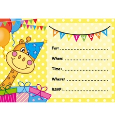 Invitation Card Birthday vector image