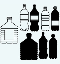 Set of water bottles vector image