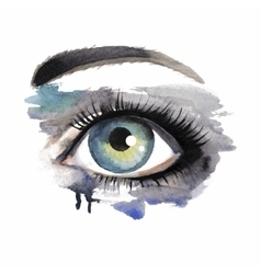 Eye on grunge background vector