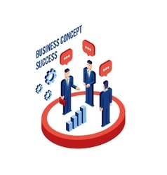 Group of businessman people isometric successful vector