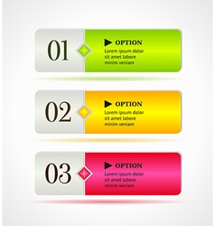 Shine horizontal colorful options banners buttons vector