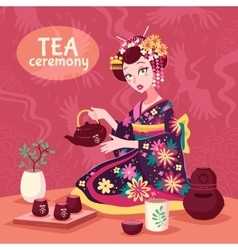 Tea ceremony poster vector