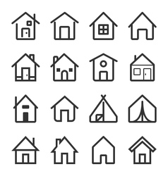 House icon set 2 vector