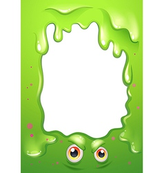 A border design with a monsters eyes vector image