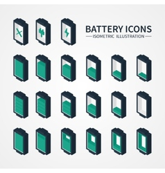 Battery web icons symbol sign and design elements vector
