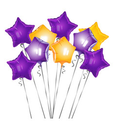 bunch of star shape balloons vector image vector image