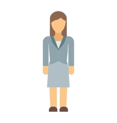 Business woman silhouette vector