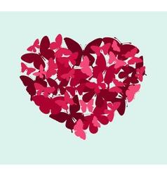 butterflies in the shape of heart vector image vector image