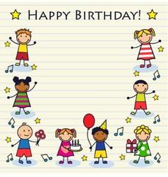 Childrens birthday vector