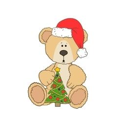 Christmas Teddy bear vector image vector image
