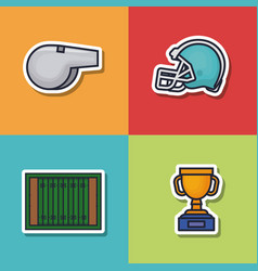 Colorfull american football icon vector