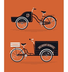 Delivery cart set vector