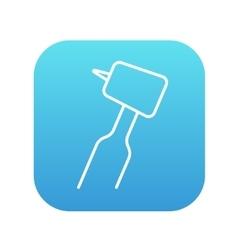 Dental drill line icon vector image