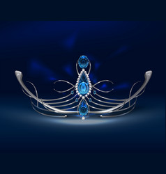 diadem with sapphires vector image