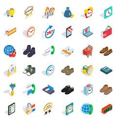 Ecommerce icons set isometric style vector