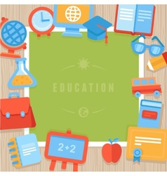 education greeting card vector image vector image