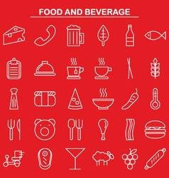 food and beverage linear icon style vector image vector image