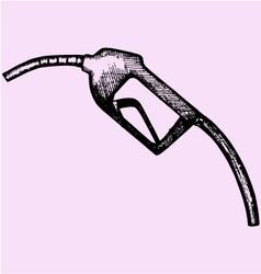 Gasoline pump nozzle fuel nozzle hose vector image