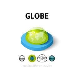 Globe icon in different style vector image