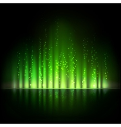 Green aurora light abstract backgrounds vector