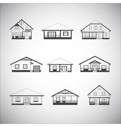 Houses set vector image vector image