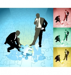 jigsaw business concept vector image