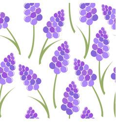 Lavender seamless pattern vector