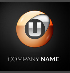 Letter u logo symbol in the colorful circle vector