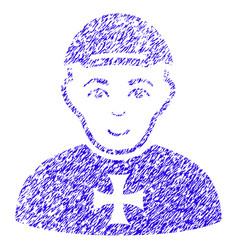 Maltese cross awarded man icon grunge watermark vector