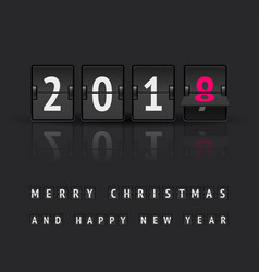 New year countdown banner vector