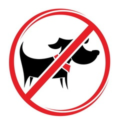 no dogs allowed1 vector image vector image