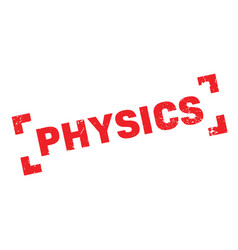 physics rubber stamp vector image
