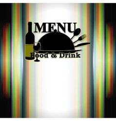 restaurant menu food and drink vector image