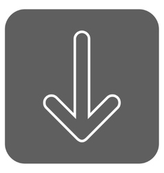 Rounded arrow down flat squared icon vector