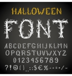Scary font vector