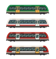 Set of railbuses vector