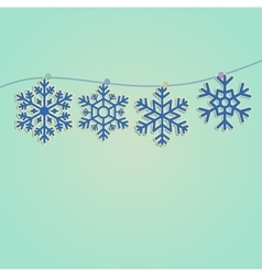 Set of snowflakes icons vector image vector image