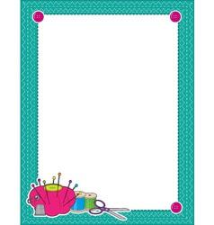 sewing border vector image vector image