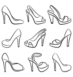 shoes vector illustration vector image vector image